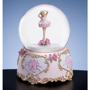 Musical Ballerina Water Globe