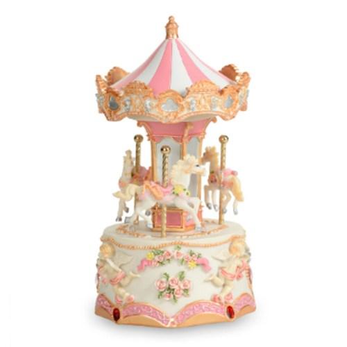 Decoration Mini 3 Horse Lighted Carousel