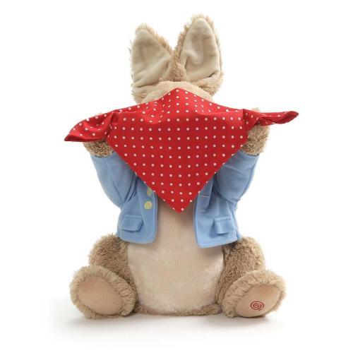 Peter Rabbit Peek a Boo animated plush toy
