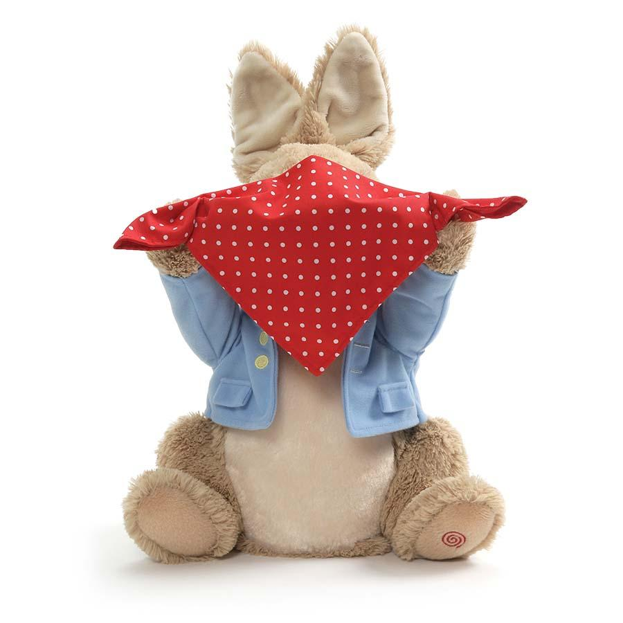 Peter Rabbit Peek a Boo animated plush toy