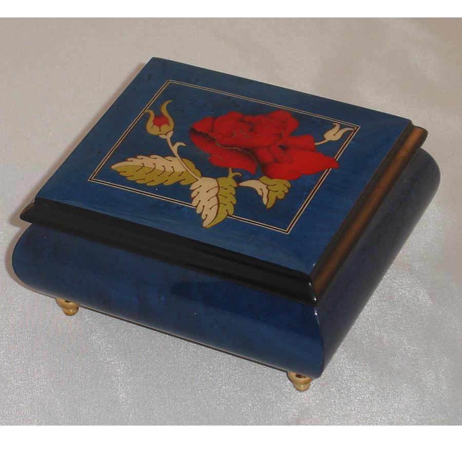 Italian Jewelry Box Dark Blue 17Rose