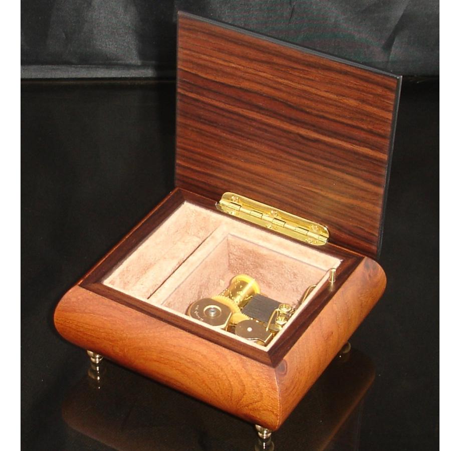 Italian Jewelry Box Walnut 17Rose opened no cover