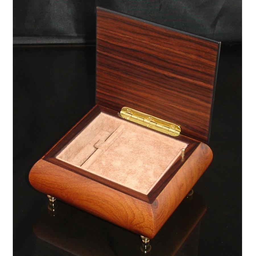 Italian Jewelry Box Walnut 17Rose opened