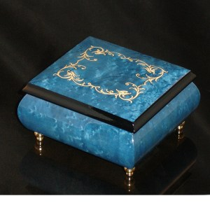 Italian Jewelry Box Dark Blue 17A