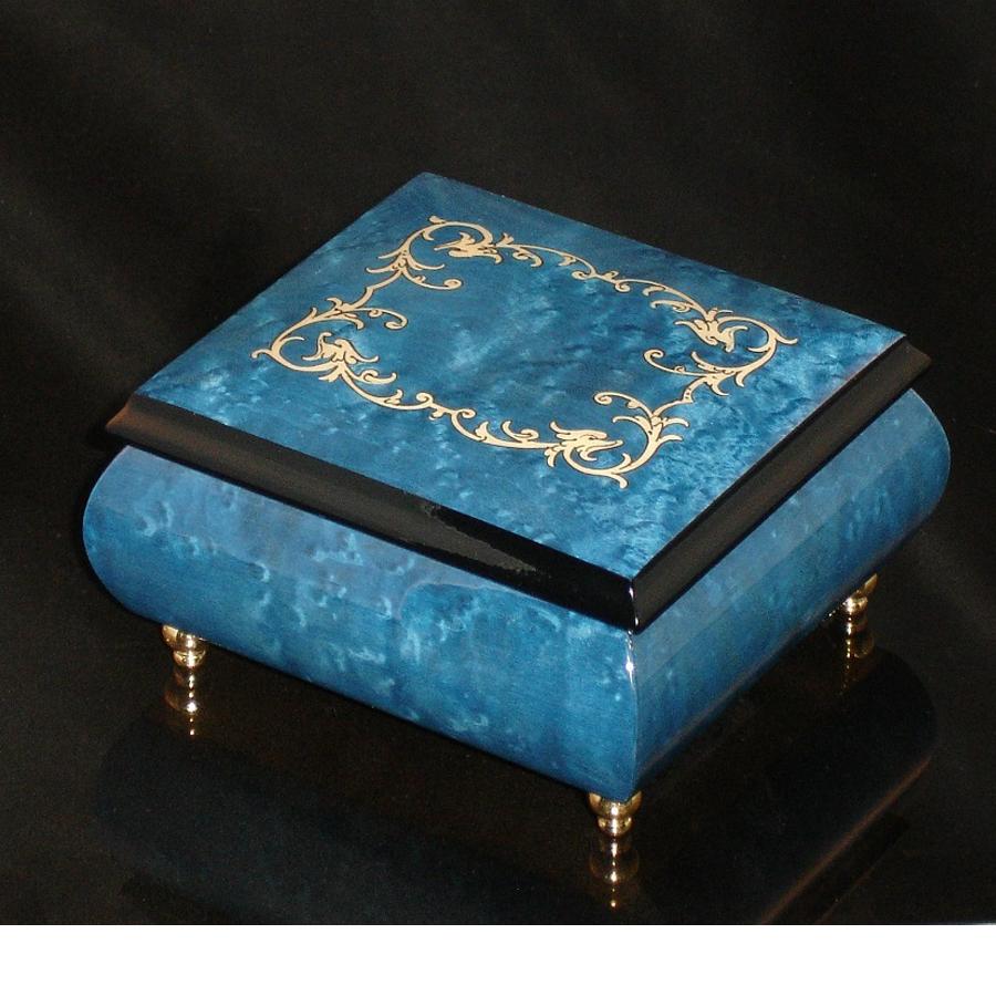 Italian Jewelry Box Dark Blue 17A
