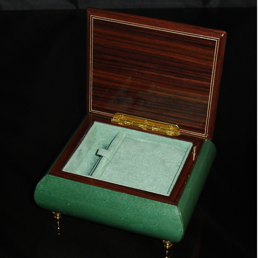 Italian Jewelry Box Green 17CF opened
