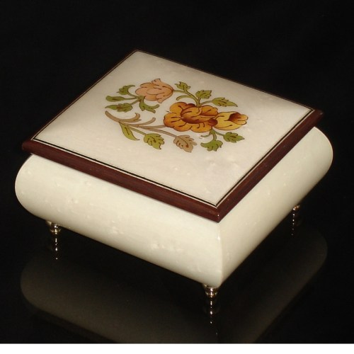 Italian Jewelry Box White 17CF