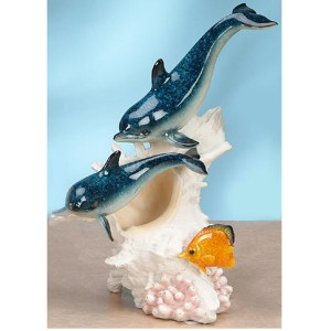 2 Dolphins on Conch Shell