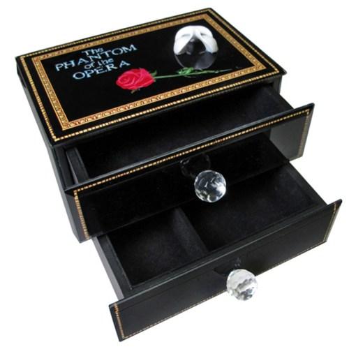 Phantom 2 Drawer Musical Jewelry Box open view