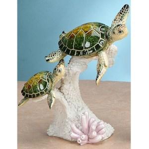 2 Green Sea Turtles on Coral