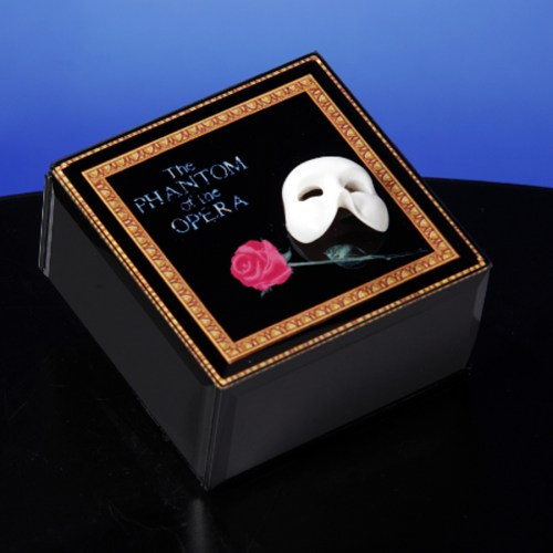 Phantom of the Opera Glass Musical Jewelry Box