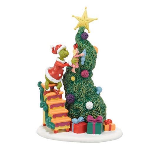 It Takes Two Grinch and Cindy decorating Tree by department 56 4038647