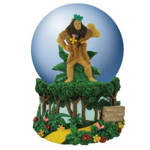 Cowardly Lion Musical Water Globe