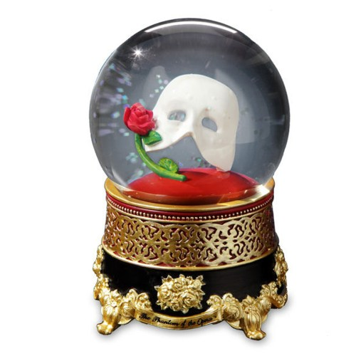 Phantom Mask and Rose musical water globe 51855