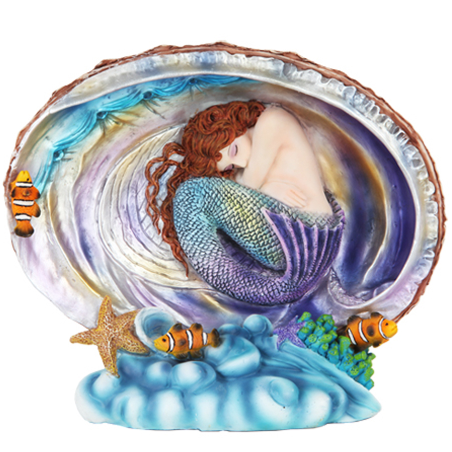 Mermaid in Abalone Shell figurine