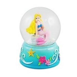 Mini Blonde Mermaid water globe