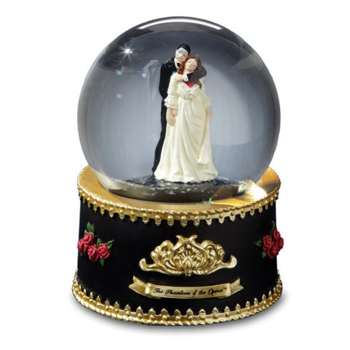 Phantom and Christine rotating musical water globe 51831