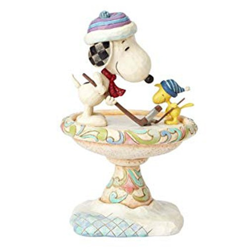 Snoopy Friendly Face-Off Hockey Figurine