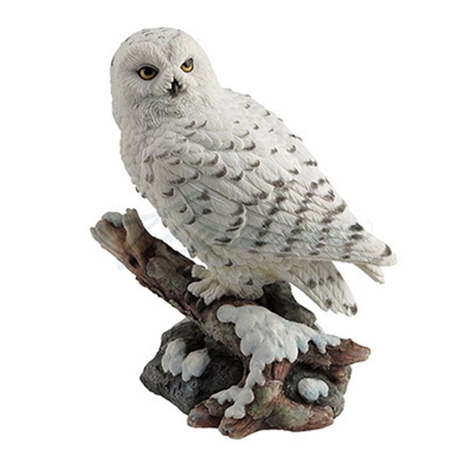 White Owl on branch figurine