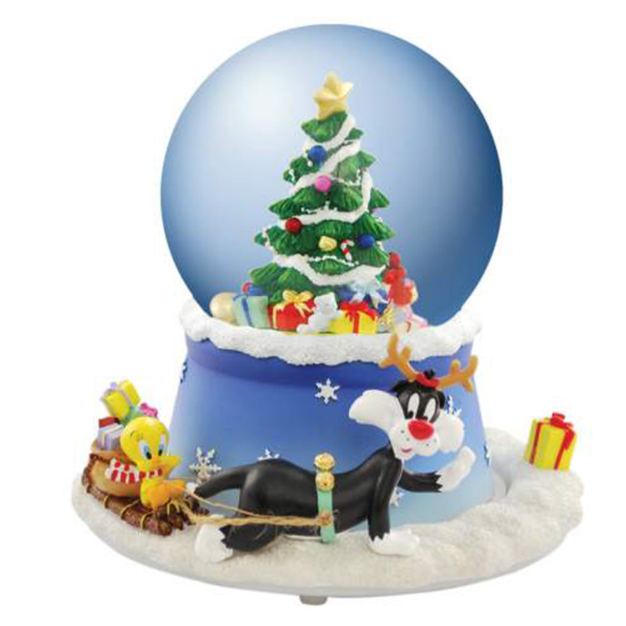 Sylvester and Tweety musical Christmas water globe 13961