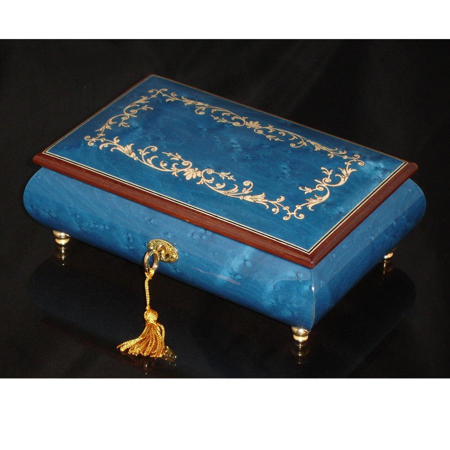 Italian Jewelry Box 02A Dark Blue