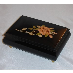 Italian Jewelry Box Pink Rose 04