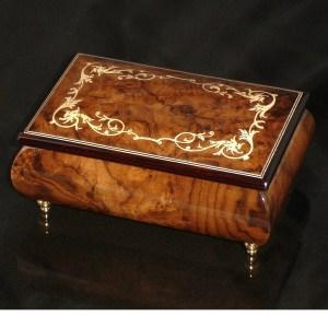Italian Jewelry Box Walnut 04A