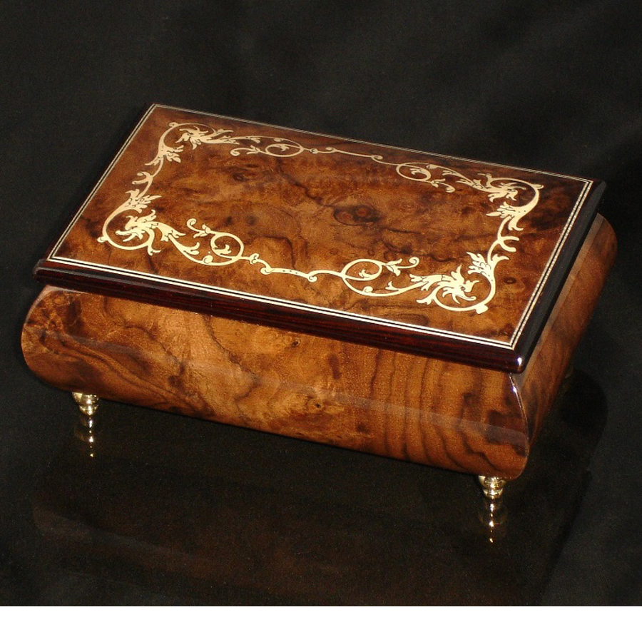 Italian Jewelry Box Walnut 04A