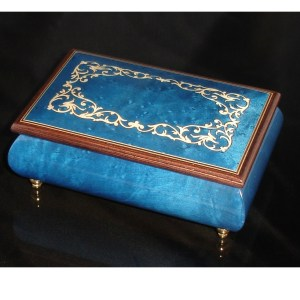 Italian Jewelry Box Dark Blue 04A