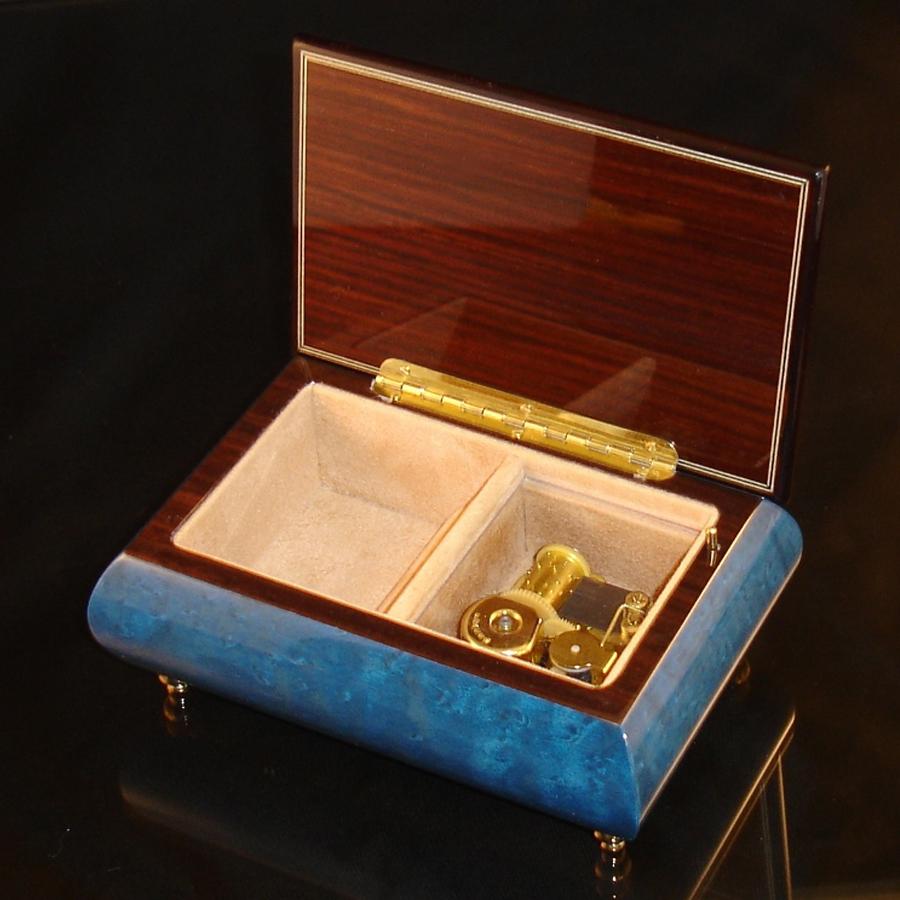Italian Jewelry Box Dark Blue 04CVM opened no cover