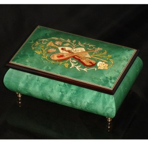 Italian Jewelry Box Green 04CVM