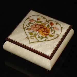 Italian Jewelry Box Heart 69CH White
