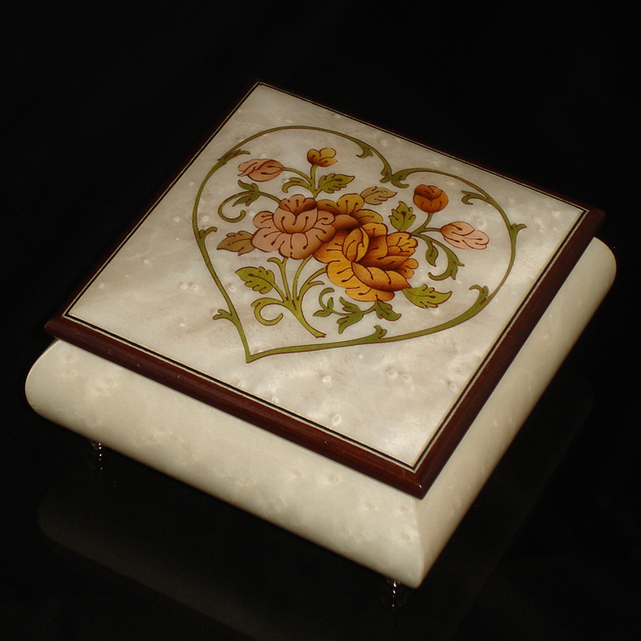 Italian Jewelry Box Heart 69CH White