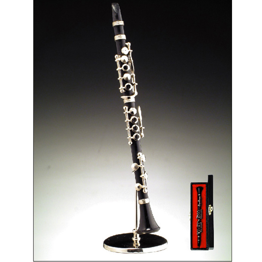 Miniature Black Clarinet with stand and case BWO2H