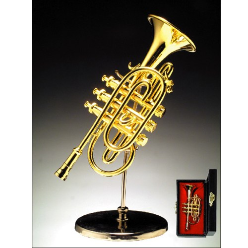 Miniature Cornet with stand and case