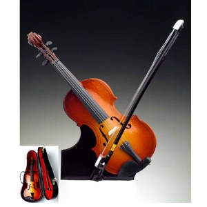 Miniature Violin with stand and case