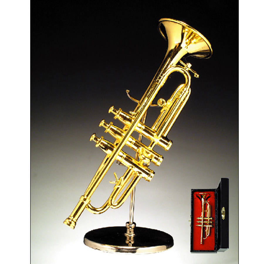 Miniature Trumpet with stand and case BR)7