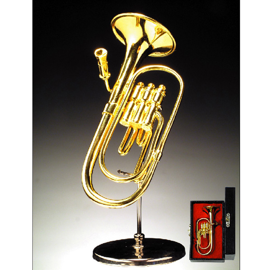 Miniature Tuba-Baritone- with stand and case BRO1H