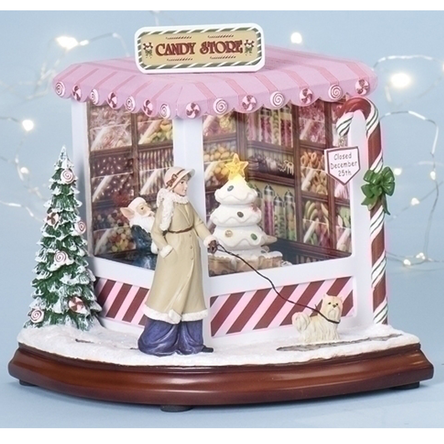 Large Candy Store Scene with music and lights