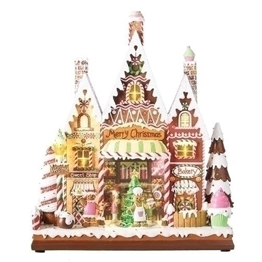 Extra Large Gingerbread Candy house lighted and musical