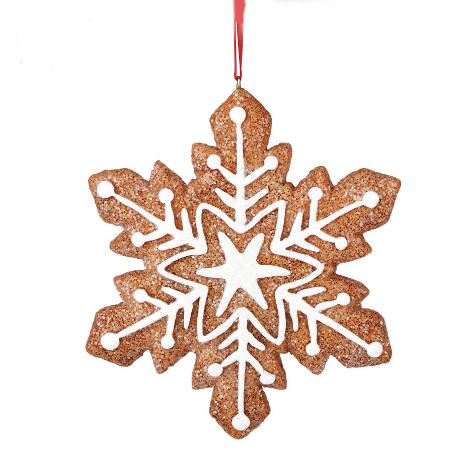 Ornament Gingerbread Snowflake