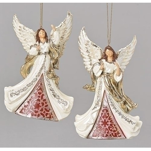 Angels Ornament Laser Cut in Red