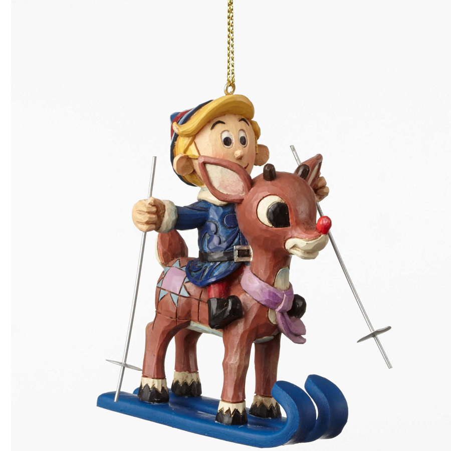 Rudolph and Hermey ornament by Jim Shore