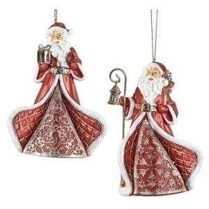Red St Nick Ornaments