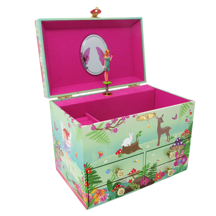 Forest Fairy medium jewelry box opened