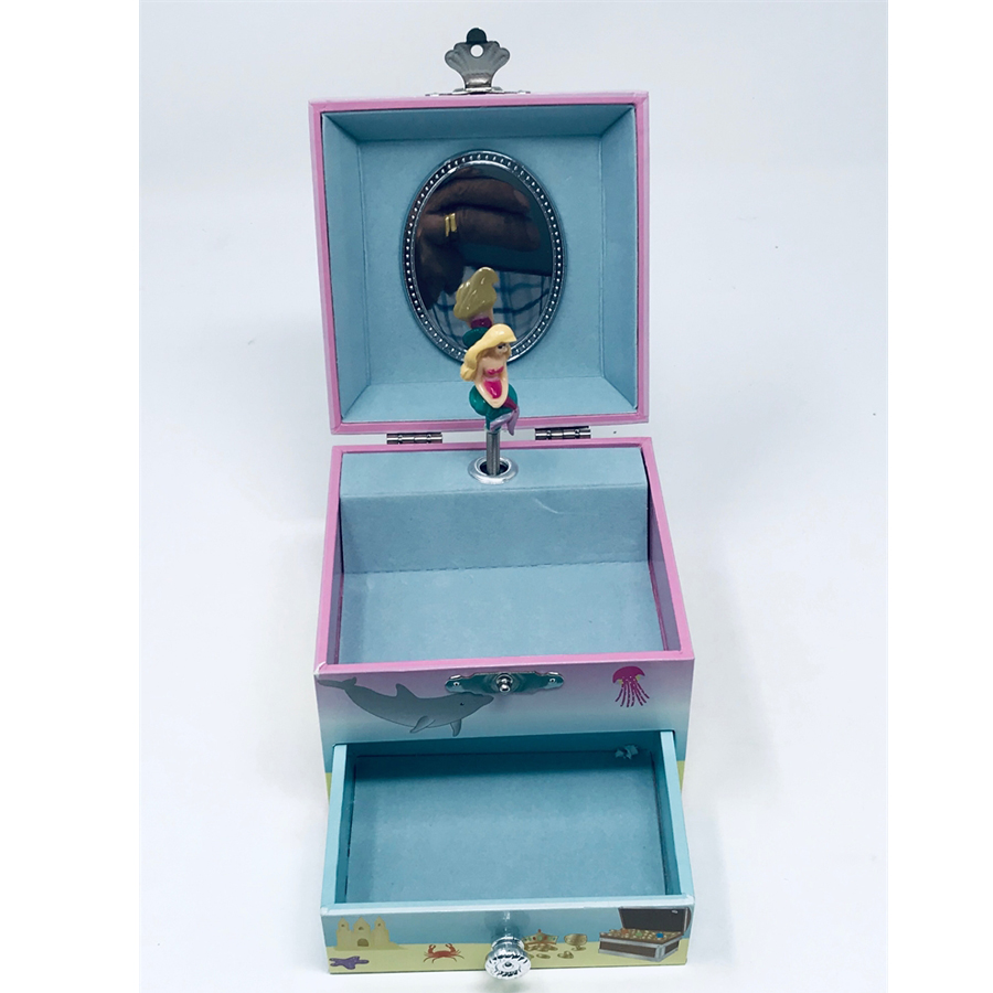 Mystic Mermaid Musical Jewelry Box -small-box-front view