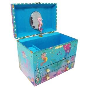 Under the Sea Musical Jewelry Box medium-opened