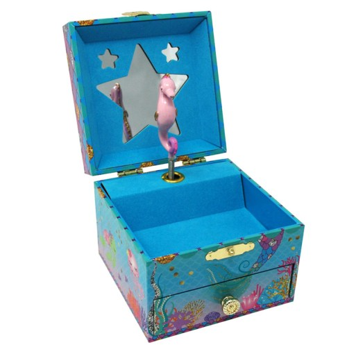 Under the Sea Musical Jewelry Box-small-box-opened