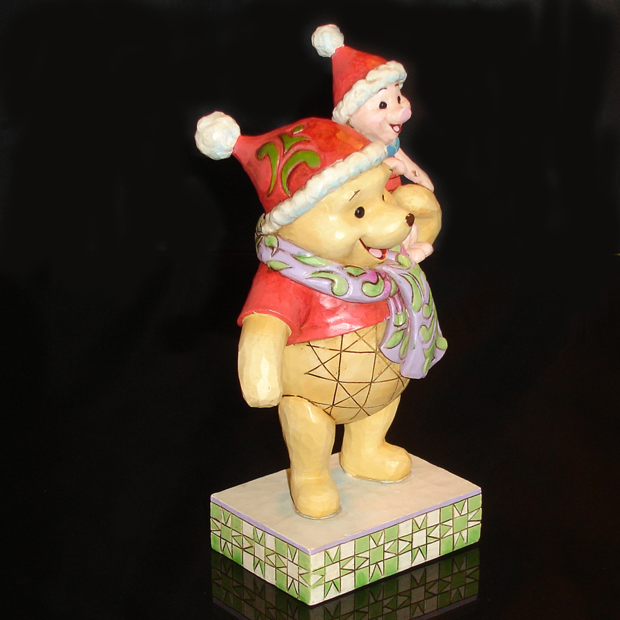 Christmas Pooh and Piglet right angle
