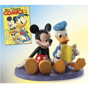 Disney Classics Donald and Mickey figurine Comic Book Companions with illustration